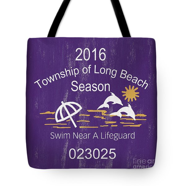 Beach Badge Long Beach Tote Bag