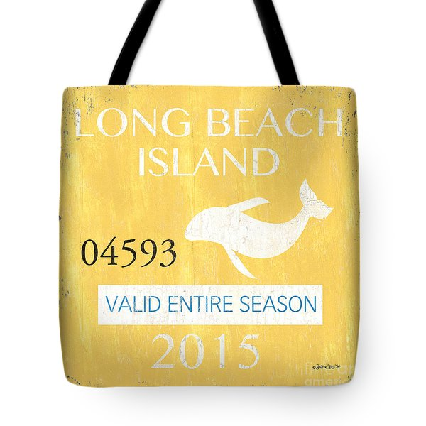 Beach Badge Long Beach Island Tote Bag