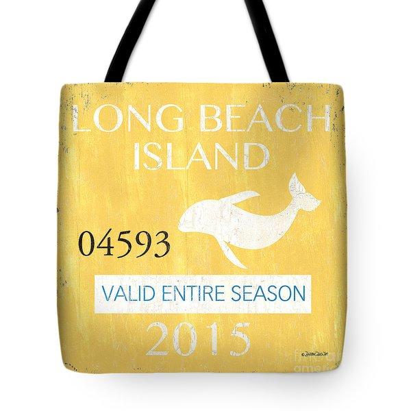 Beach Badge Long Beach Island Tote Bag