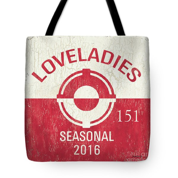 Beach Badge Loveladies Tote Bag