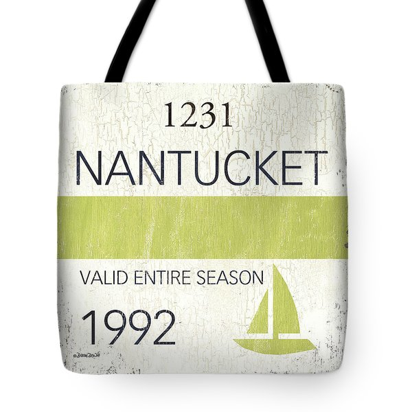 Beach Badge Nantucket Tote Bag