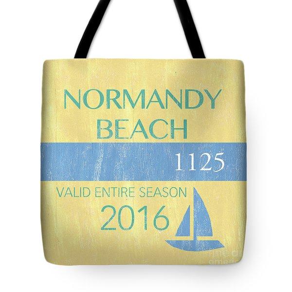 Beach Badge Normandy Beach 2 Tote Bag