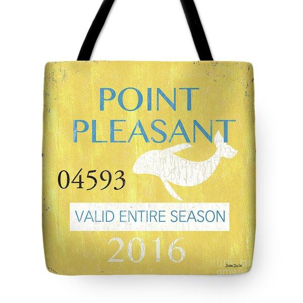 Beach Badge Point Pleasant Tote Bag