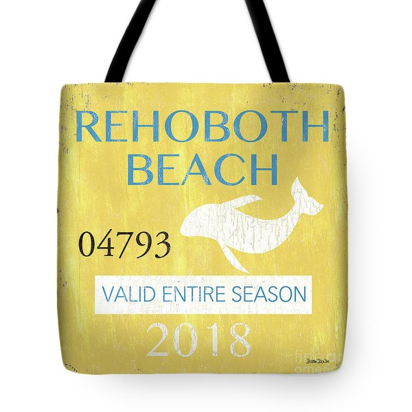 Beach Badge Rehoboth Beach Tote Bag