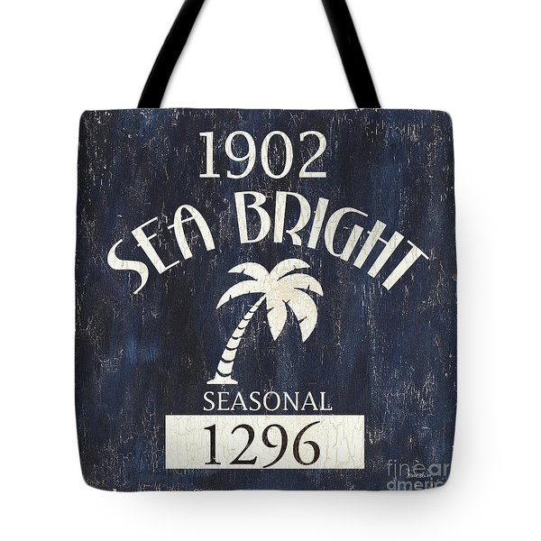 Beach Badge Sea Bright Tote Bag