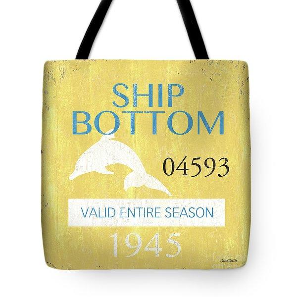 Beach Badge Ship Bottom Tote Bag