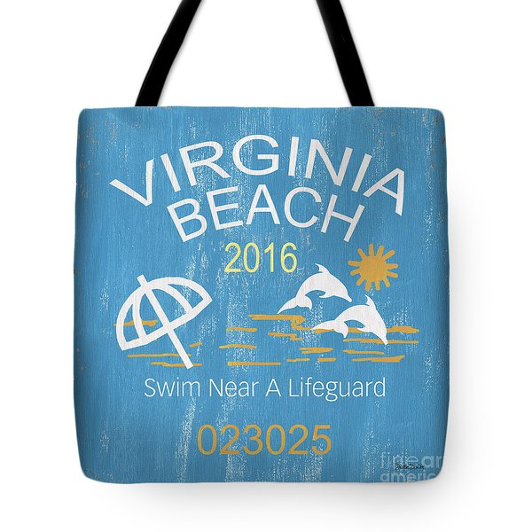 Beach Badge Virginia Beach Tote Bag