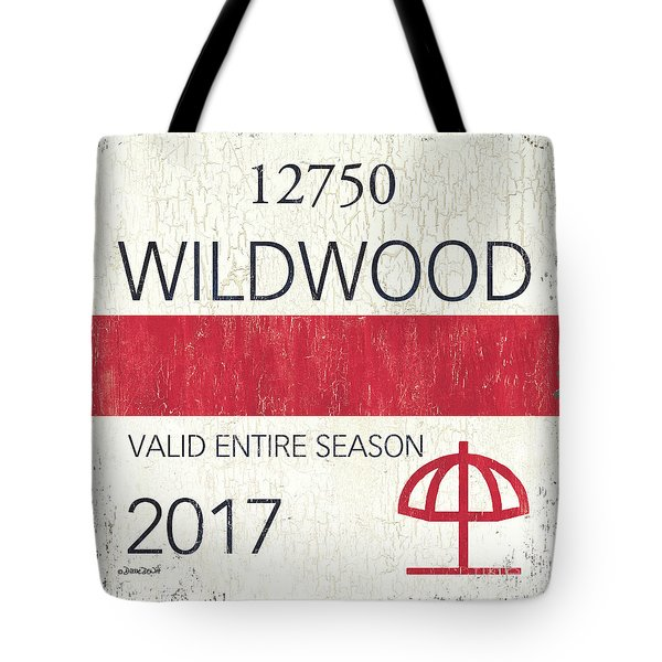 Beach Badge Wildwood 2 Tote Bag