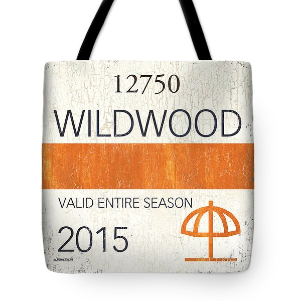 Beach Badge Wildwood Tote Bag