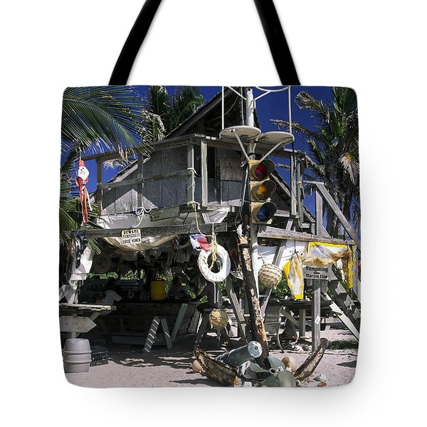 Beach Bar Tote Bag by Sally Weigand