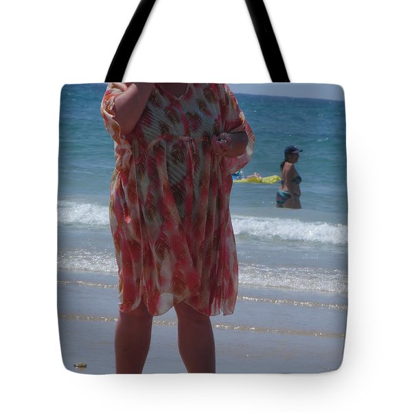 Tote Bag featuring the painting Beach Beauty by Esther Newman-Cohen
