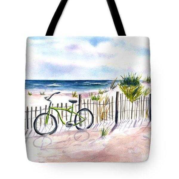 Beach Bike At Seaside Tote Bag