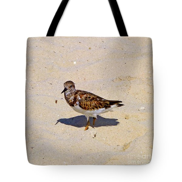 Tote Bag featuring the photograph Beach Bird by Francesca Mackenney