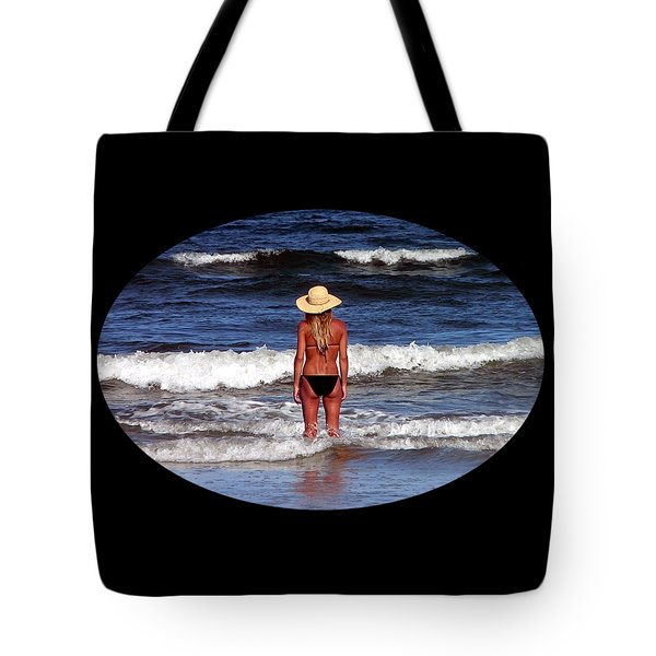 Tote Bag featuring the photograph Beach Blonde .png by Al Powell Photography USA