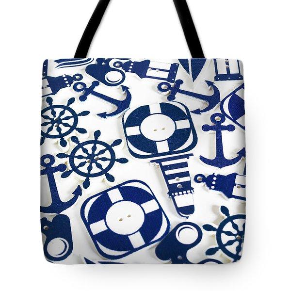 Beach Blue Background Tote Bag