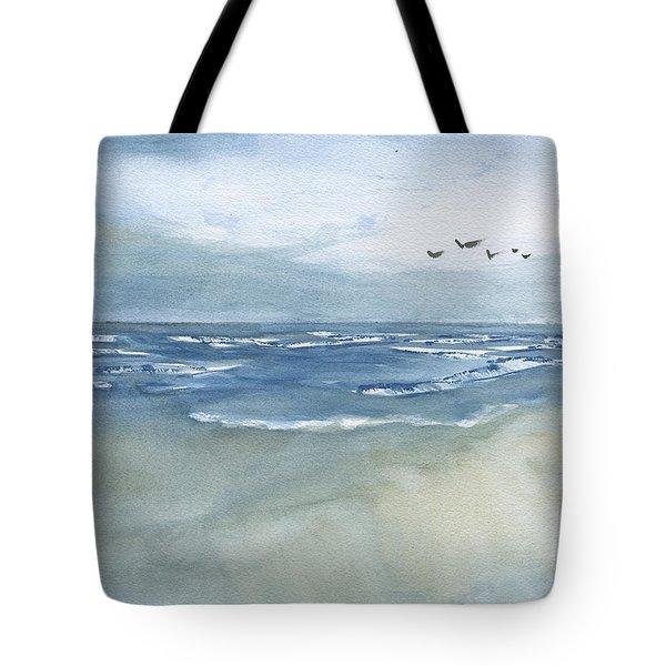 Beach Blue Tote Bag by Frank Bright
