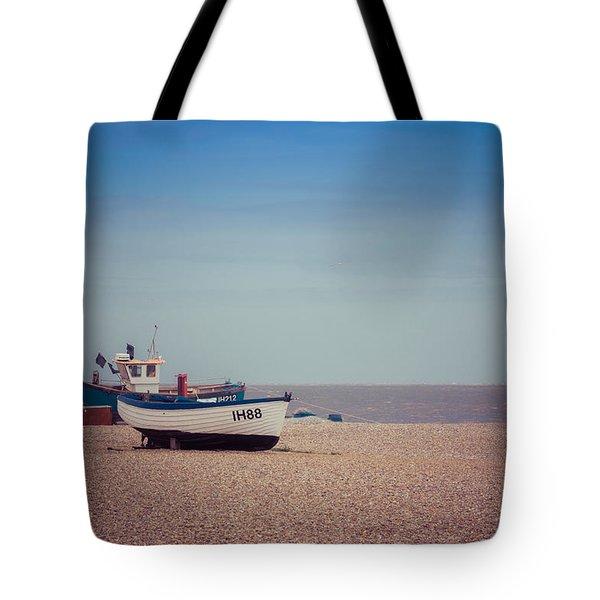 Beach Boats Tote Bag by David Warrington
