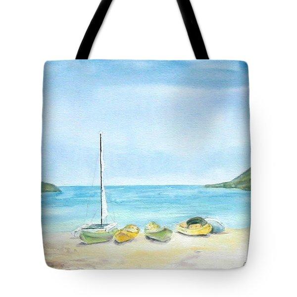 Beach Boats Tote Bag