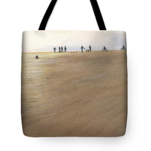 Beach Bocce Bikes Tote Bag