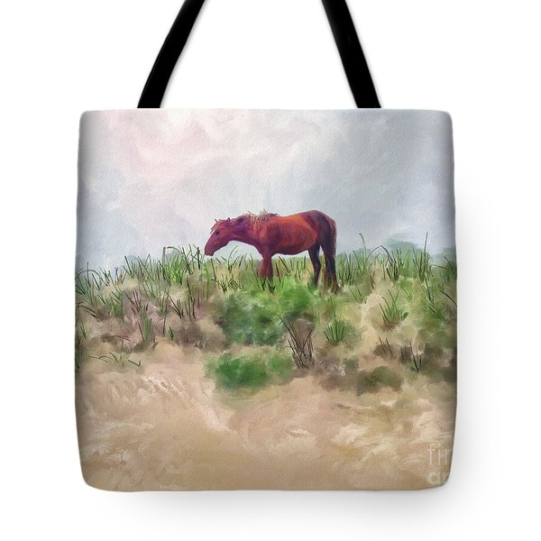 Tote Bag featuring the digital art Beach Boy by Lois Bryan