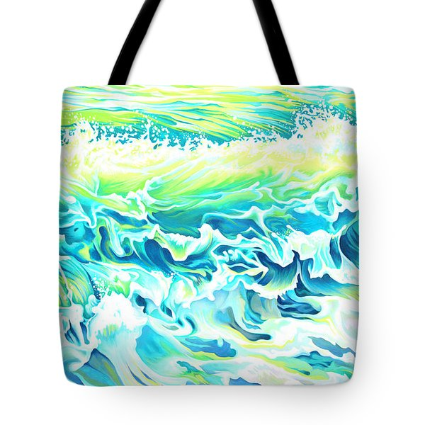 Beach Break Wave Tote Bag