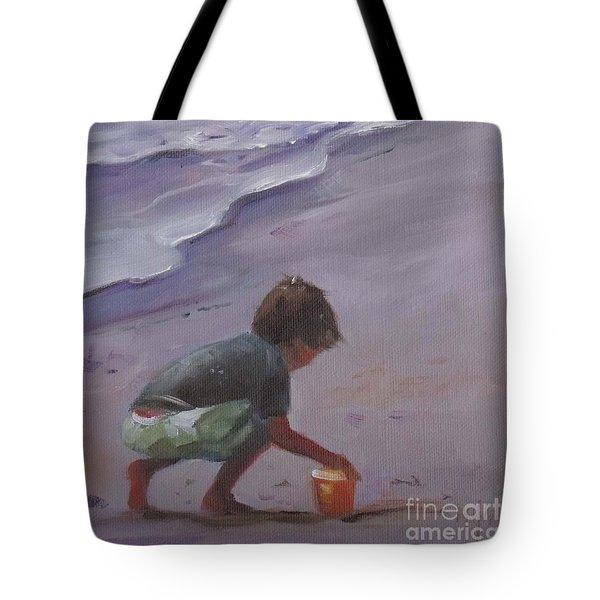 Beach Bucket Tote Bag