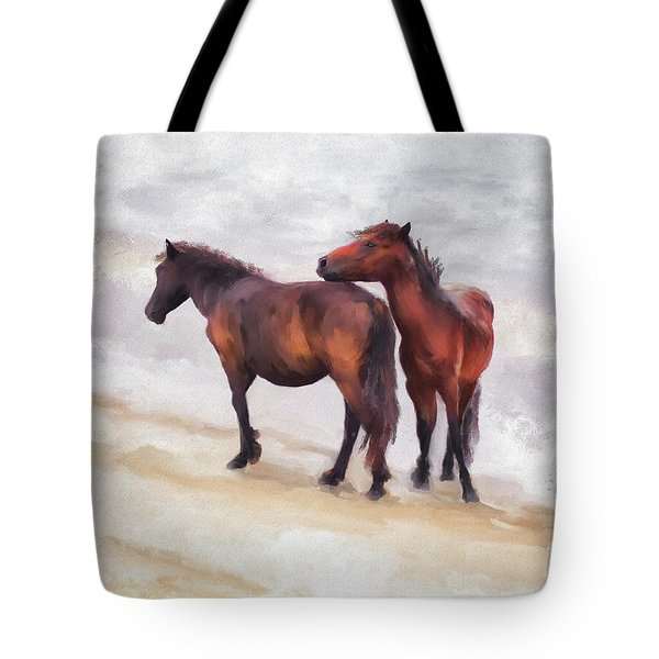 Tote Bag featuring the photograph Beach Buddies by Lois Bryan