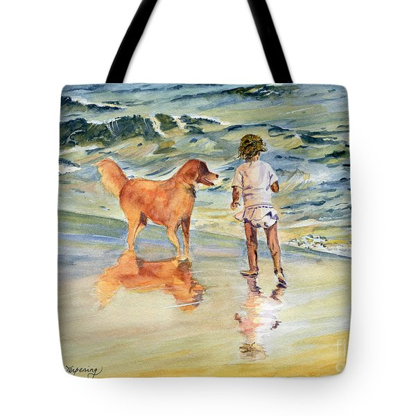 Beach Buddies Tote Bag by Melly Terpening
