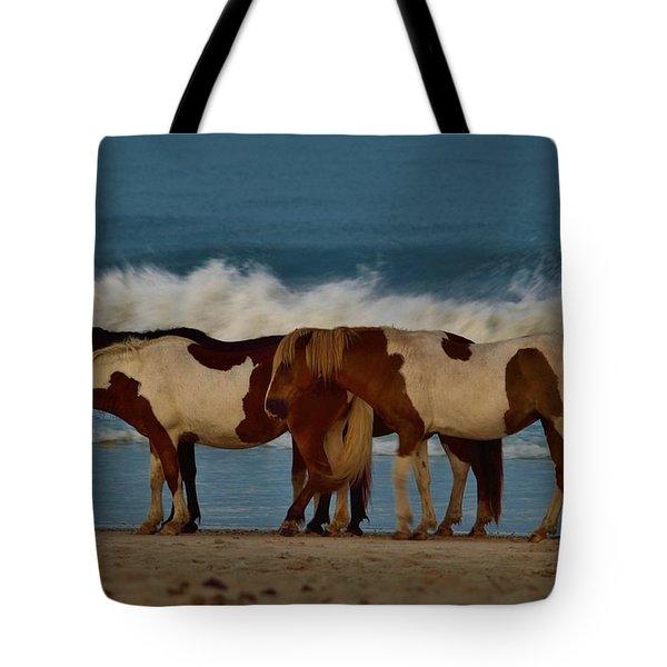 Beach Bum Ponies Tote Bag