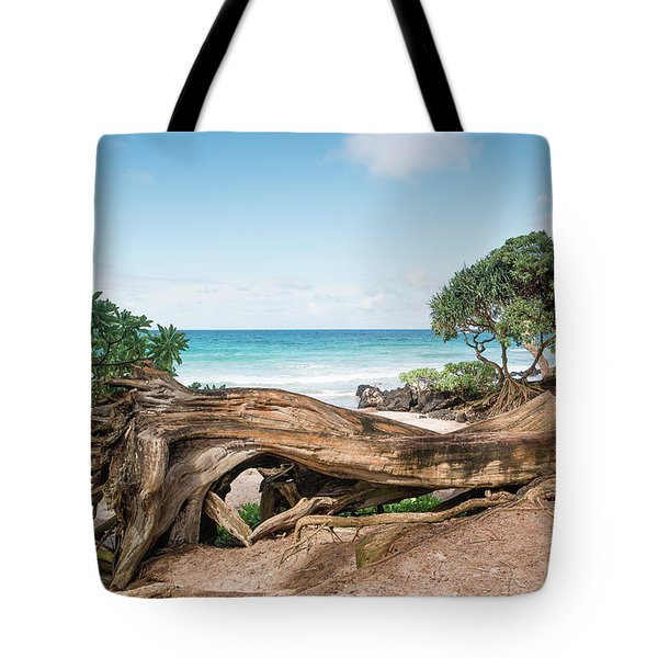 Beach Camping Tote Bag