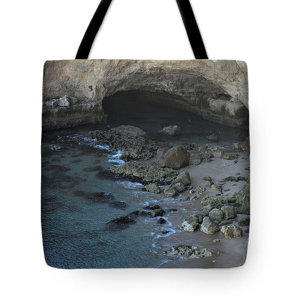 Beach Cave From The Cliffs In Malhada Do Baraco Tote Bag by Angelo DeVal