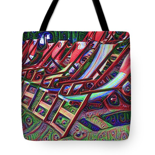 Beach Chairs Tote Bag by Bill Cannon