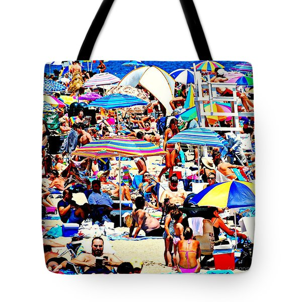 Beach Chaos Tote Bag by Diana Angstadt