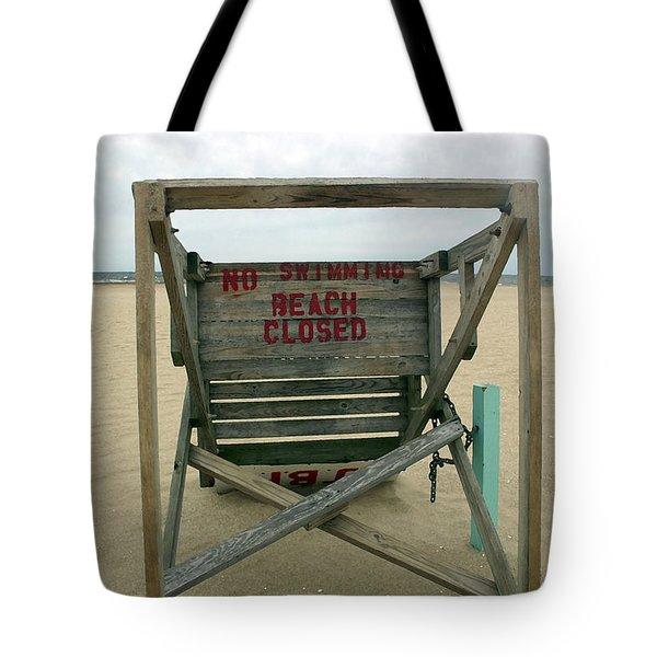 Beach Closed Tote Bag by Mary Haber
