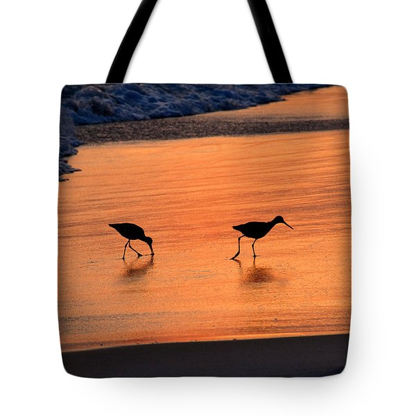 Beach Couple Tote Bag by David Lee Thompson