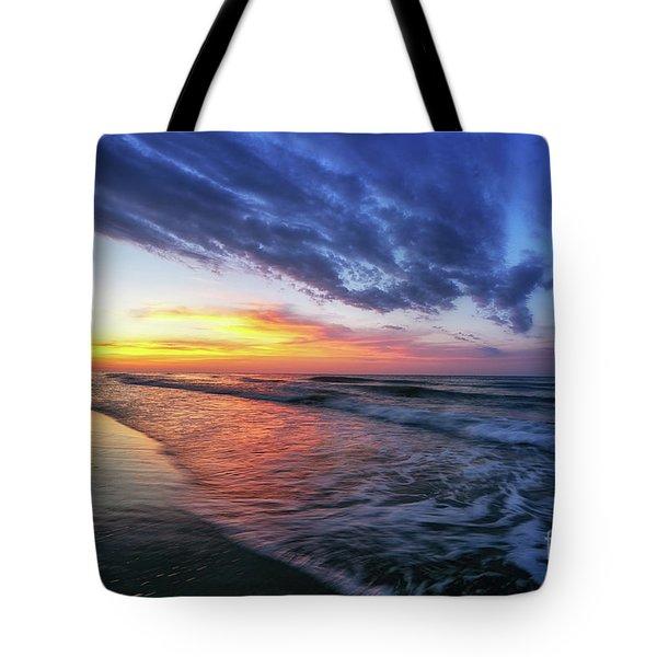 Beach Cove Sunrise Tote Bag