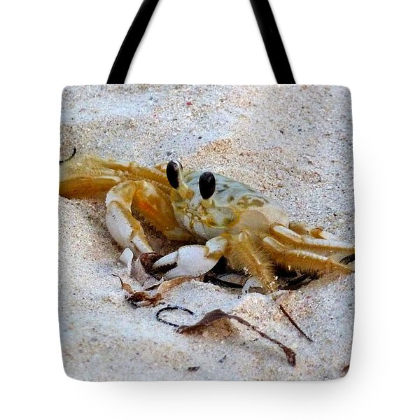 Beach Crab Tote Bag