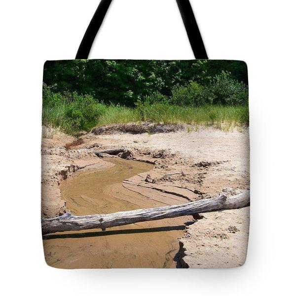 Beach Creek Tote Bag by Michelle Calkins