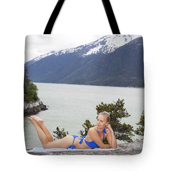 Beach Day In Alaska Tote Bag
