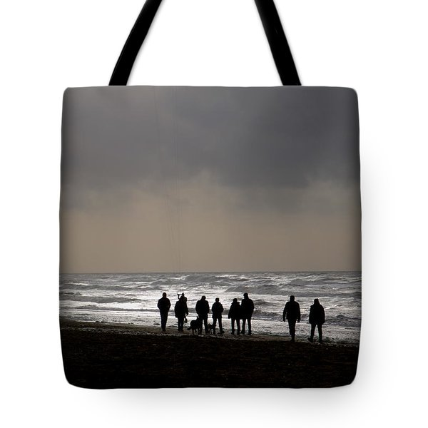 Beach Day Silhouette Tote Bag