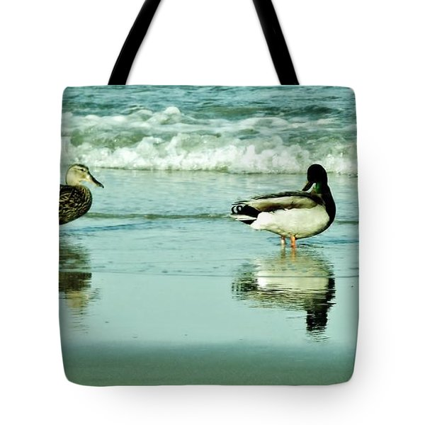 Beach Ducks Tote Bag