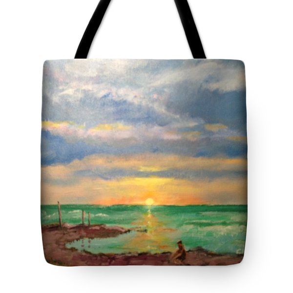 Beach End Of Day Tote Bag