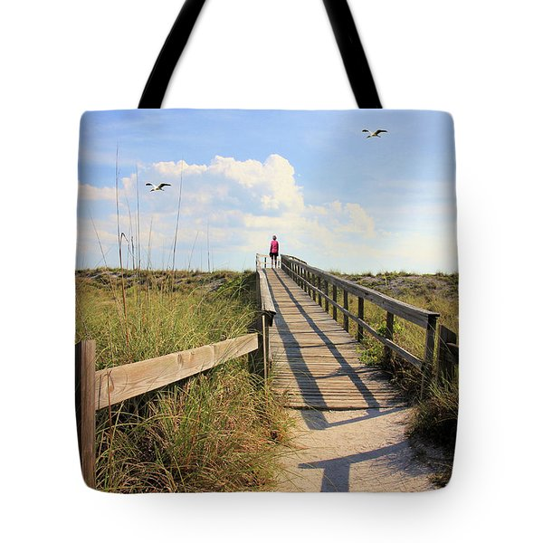 Beach Entrance Tote Bag by Rosalie Scanlon