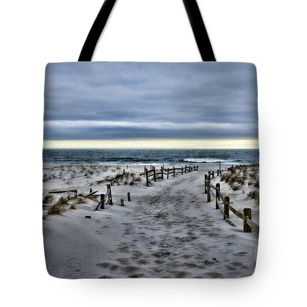Tote Bag featuring the photograph Beach Entry by Paul Ward