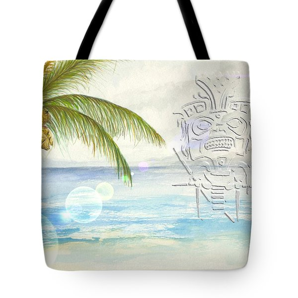 Tote Bag featuring the digital art Beach Etching by Darren Cannell