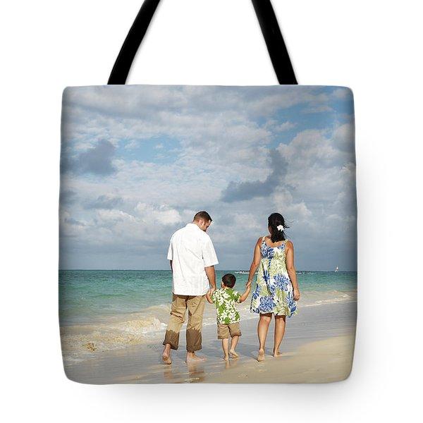 Beach Family Tote Bag by Brandon Tabiolo - Printscapes