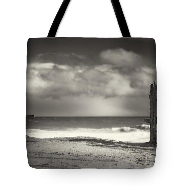 Beach Fence - Wellfleet Cape Cod Tote Bag