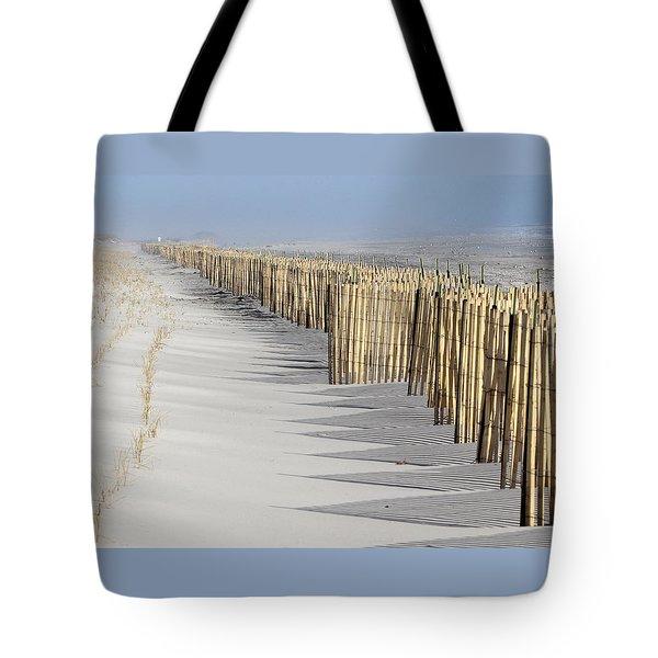 Beach Fence Shirley New York Tote Bag