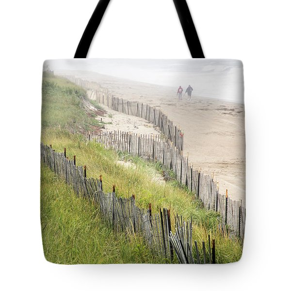 Beach Fences In A Storm Tote Bag
