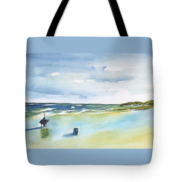 Beach Fishing Tote Bag by Frank Bright